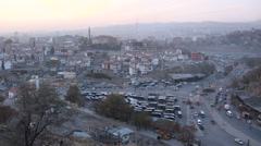 Ankara, Turkey, overview of old city at dusk Stock Footage