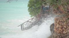 Turquoise Ocean Tide Stock Footage