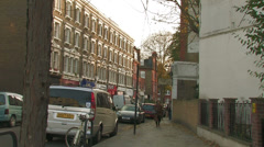 Autumnal day,  London, Shepherds Bush Stock Footage