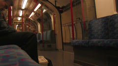 Tube leaves station Stock Footage