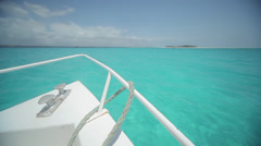 Boating on Turquoise Ocean Stock Footage