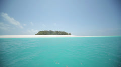 Tropical Island from Boat Stock Footage