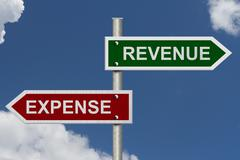 revenue versus expense - stock illustration