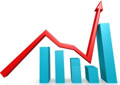 Recovery graph - stock illustration
