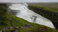 Gullfoss falls in iceland Stock Footage