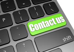 Contact us with black keyboard Stock Illustration