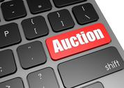 Stock Illustration of Auction with black keyboard