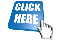 Stock Illustration of Click here button with cursor