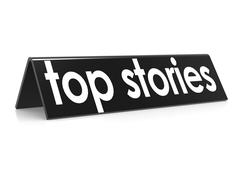 Top stories in black - stock illustration