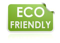 Eco friendly sticker Stock Illustration