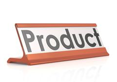 Product table tag Stock Illustration