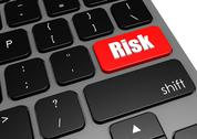 Stock Illustration of Risk with black keyboard