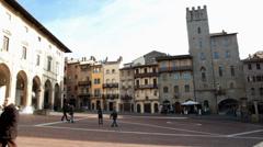 Piazza grande Arezzo Stock Footage