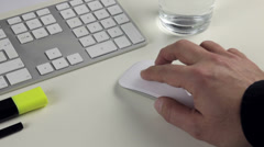 Computer mouse and keyboard Stock Footage