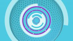 Network signal circle and transmission pulse. Alpha matte Stock Footage