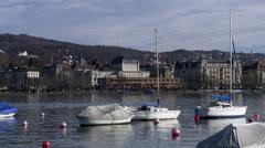 Zurich Opera and Lake Stock Footage