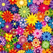 Colorful flower background Stock Illustration