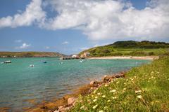 tresco, isles of scilly - stock photo