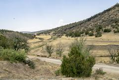 Mountain and Gulley in New Mexico Stock Photos