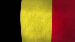 Belgium Flag Background Textured (Loop-able) Stock Footage