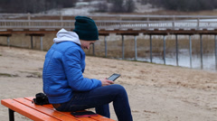 Teen with tablet PC episode 2 - stock footage