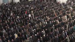 Ankara mosque, muslim men attend Friday prayer, Islam in Turkey Stock Footage