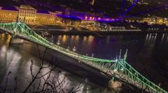 Nightly River Cityscape Timelapse v1 - stock footage