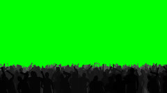 Concert crowd dancing energetically, on an easily keyed green background Stock Footage