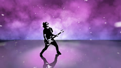 High Contrast Composite of a rock guitar player. Stock Footage
