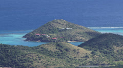 Virgin Gorda island in Caribbean Stock Footage