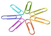 Stock Photo of colored clip set diagonal view