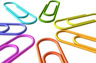 Stock Photo of colored clip set closeup view