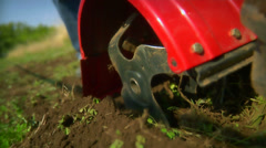 While tilling the machine gets stuck. Stock Footage