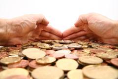 Greed - stock photo