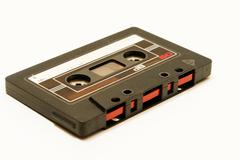 Musiccassette music tape oldschool Stock Photos