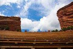 Famous red rocks amphitheater in  denver Stock Photos