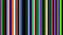 "Multi-colored video feedback from a 1970's 1"" tape machine Stock Footage"