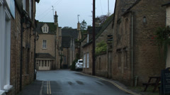 Road through Cotswolds England - stock footage