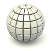 Sphere with squared faces Stock Illustration