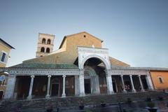 Stock Photo of civita cathedral facade