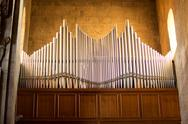 Stock Photo of pipe organ