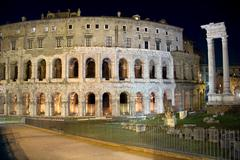 Teatro di marcello at night 2 Stock Photos