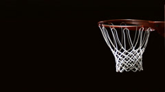 Close up of a basketball dunk. - stock footage