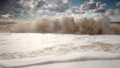 Five elements: water. Slow motion of big ocean wave Stock Footage