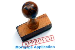 mortgage application - approved - stock photo