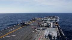 Amphibious Assault Ship USS Bataan conduct a strait transit exercise Stock Footage