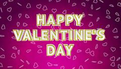 Valentine day sale loop with moving background. Pink version. Stock Footage
