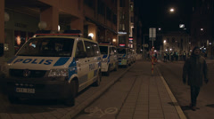 Swedish Police Stock Footage