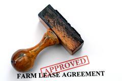 Farm lease agreement Stock Photos