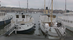 In port of city Stockholm Stock Footage